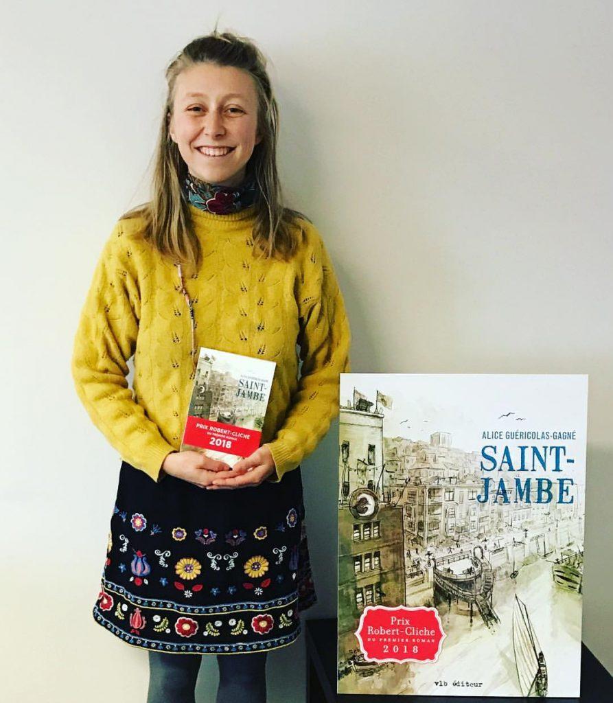 Alice Guéricolas-Gagné Autrice du livre Saint-Jambe Récipiendaire du prix Robert-Cliche